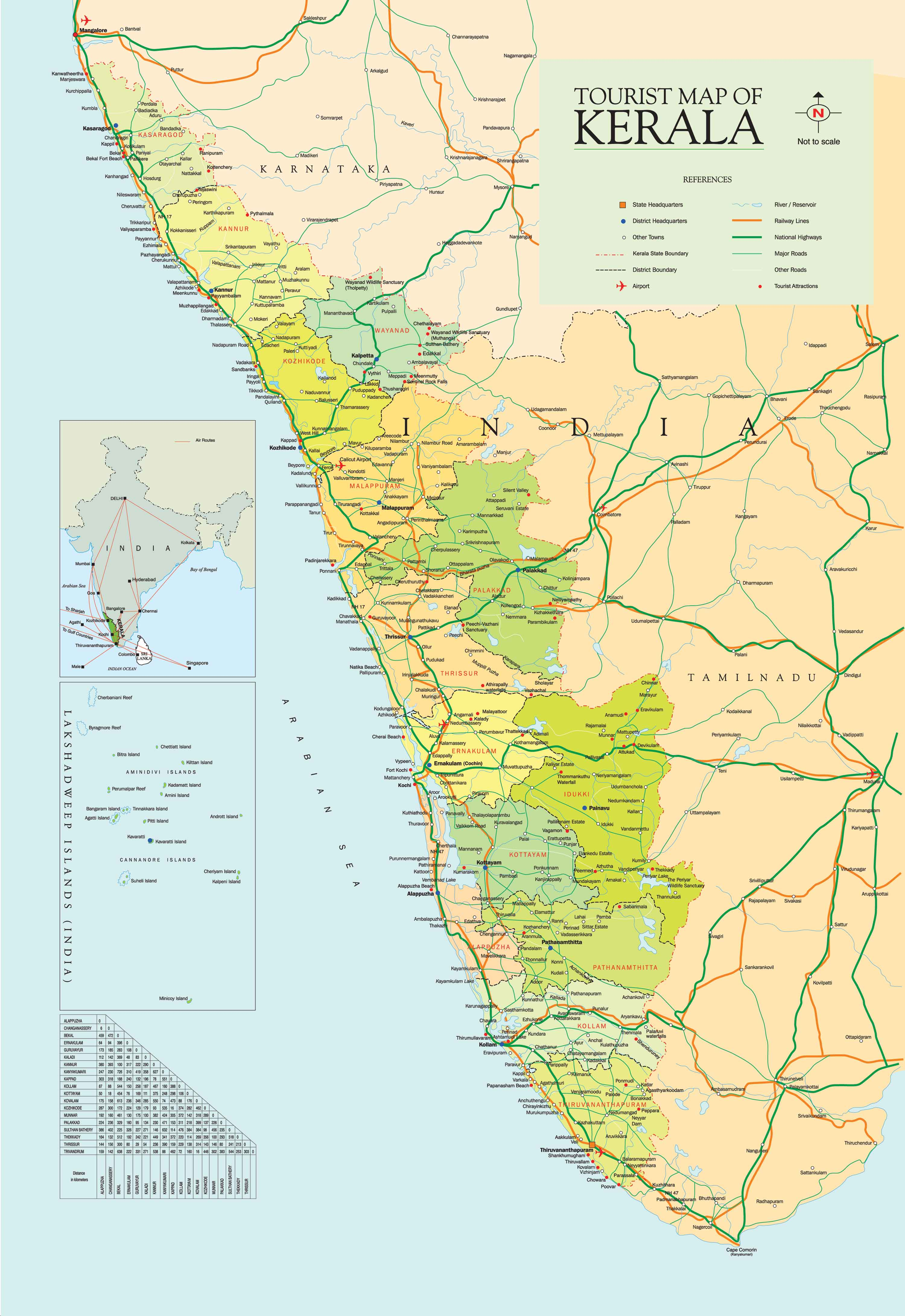 Map Of Kerla